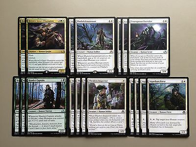 MTG White Green Humans Magic Deck Standard Thalia's Lieutenant Collective SE