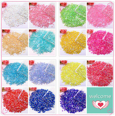 Jelly AB 3mm 1000pcs Crystal Lot Facets Resin Flat Back Rhinestone