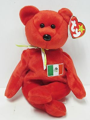0db12d18034 Ty Beanie Baby Osito Mexico RED Bear PRISTINE CLEAN Brand New w Mint Tags!