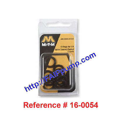 """Mi-T-M AW-0025-0122  1/4"""" Pressure Washer O-Ring 10 pack ~ Fits Most Brands"""