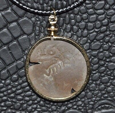 Authentic Spanish Philip IV Caribbean Pirate Shipwreck 165? Cob Coin Necklace