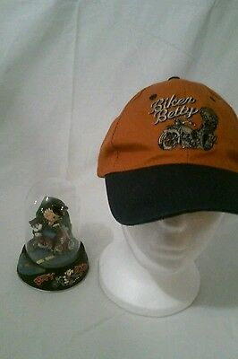 """Franklin Mint Betty Boop """"Born to be Boop"""" Hand Painted Sculpture with hat"""