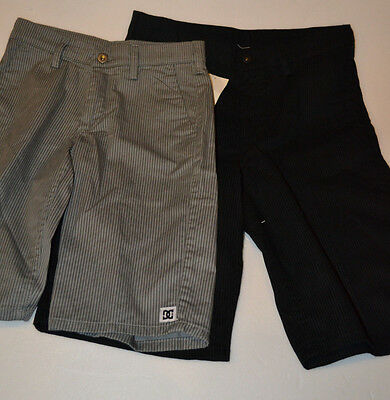 DC SHOES CO  Boys  Shorts Size 25 30  28 W NWT Gray or Black Pinline