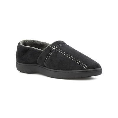 The Slipper Company - Mens Full Slipper in Black - Sizes 5,6,7,8,9,10,11,12