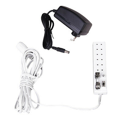 Dollhouse 1:12 Scale 6 Receptacles Power Strip Transform 12V LA004B (US Plug) DT