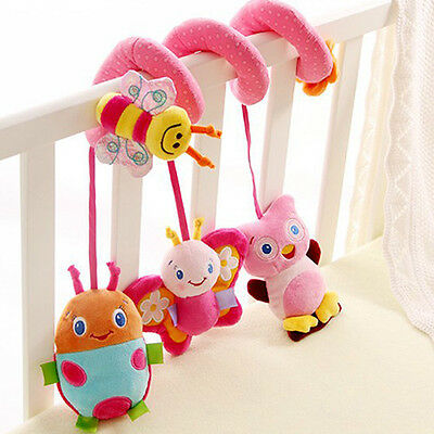Multifunction Baby Bed Hanging Rattle Butterfly Bee Owl Soft Crib Toys Hot Sale