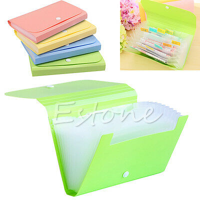 New Mini Office File Document Bag Pouch Bills Folder Card Holder Fastener