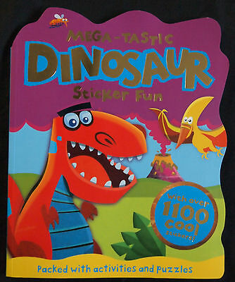 Dinosaur Sticker Fun Book - Mega-Tastic Packed With Activities And Puzzles Kids