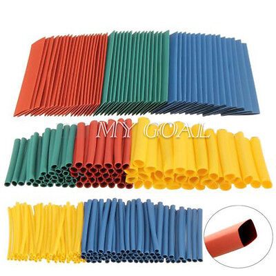 260x Assortment Heat Shrink Tubing Tube 2:1 Sleeving Wrap Wire Cable Kit 8 Sizes