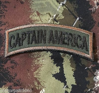 Captain America Army Tab Rocker Usa Infidel Morale Forest Hook & Loop Patch