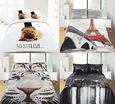 3D Effect Design Duvet Sets Quilt Cover With 2xPillow Cases Full Duvet Cover Set