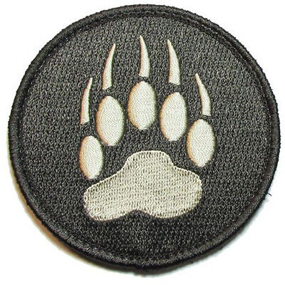 Blackwater Tracker Bear Paw Usa Army U.s. Embroidered Morale Badge Patch