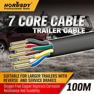100M X 7 Core Wire Trailer Cable Automotive Boat Caravan Truck Coil V90 PVC