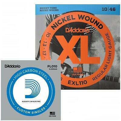 D'Addario EXL110-E  Light Electric Guitar String with Bonus E String 10 - 46