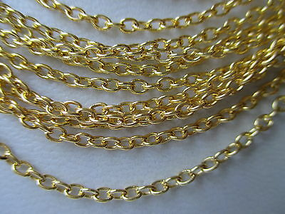 "UK Jewellery Gold Plated 24"" 18"" Trace Link Necklace Pendant Locket Chains"