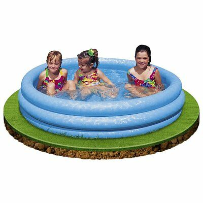 Inflatable Paddling Pool Three Ring Swimming Outdoor Garden Child 1.14m x 25cm