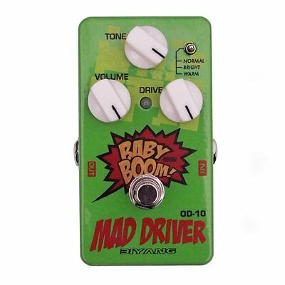 Biyang OD-10 Mad Driver Guitar Effects Distortion Overdrive Pedal