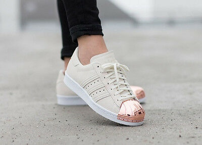 ADIDAS SUPERSTAR 80S Metal Toe Rose Gold Metallic Suede Trainers Us 7.5  S75057