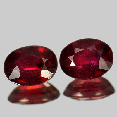 3.56 CT LOT 2  PCS  RUBIS NATUREL  pierres précieuses fines GEMS 131216