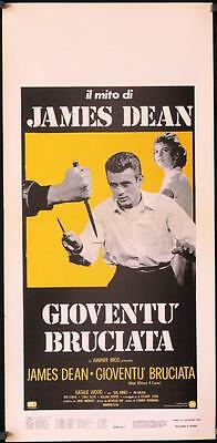R439 REBEL WITHOUT A CAUSE Italian locandina R70s Nicholas Ray, James Dean