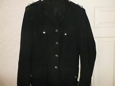 Vintage Firefighter Station Officers Formal Jacket Baa With Rank Markings