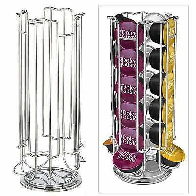 Dolce Gusto 24 Coffee Capsule Pod Revolving Rotating Holder Rack Stand Tower