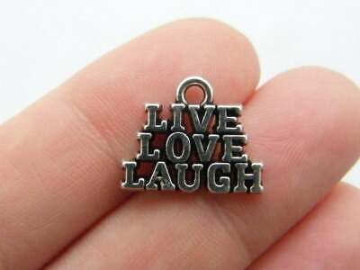 BULK 30 Live laugh love infinity connector charms I105