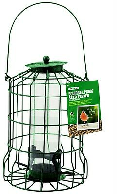 Gardman Squirrel Proof Seed Feeder Wild Bird Garden Outdoor Plastic Coated Wire