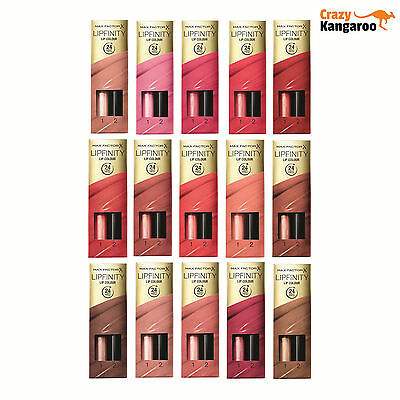 MAX FACTOR Lipfinity Lip Colour Gloss Lipstick - *Choose Your Shade*