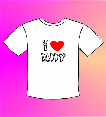 I Love Daddy - Baby Funny T-Shirt Pregnant Mom Mum Dad Mommy   (All Sizes)
