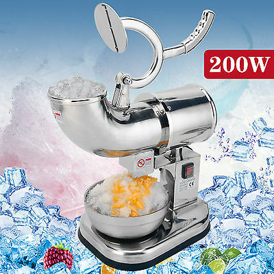 440lbs Electric Ice Crusher Shaver Snow cone Machine Full Stainless Steel