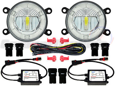 Ford Transit Van LED DRL Front Fog Light Kit Custom Connect Tourneo Ranger