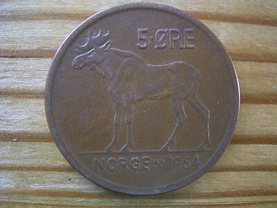 1964 Norway 5 ore coin collectable