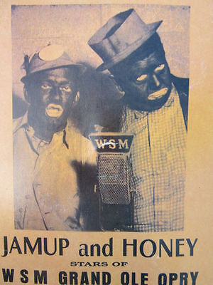 Fan Jamup and & Honey Vintage Advertising WSM Grand Ole Opry 1940s Comedy Show