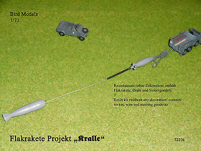 "Flakrakete Projekt ""Kralle""          1/72 Bird Models Resinbausatz / resin kit"