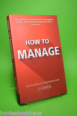 How to Manage by Jo Owen, Paperback Book, English