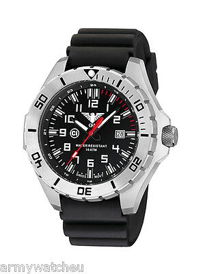 KHS Tactical Watches Army Field Watch C1-Light Date Diver Band Black KHS.LANS.DB
