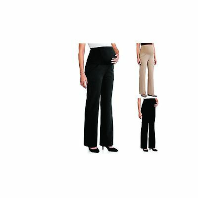 NEW Oh! Mamma Full-Panel Wide Leg Career Maternity Pants, C2.1K