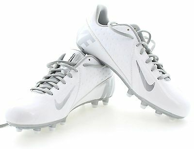 New Nike Men's Vapor Strike Low LAX Lacrosse Shoe Cleats 537683-100 White 9.5 10