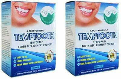 2X Temptooth Temp tooth Temporary tooth DIY replacement Cosmetic make a tooth