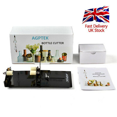 AGPtek Wine Bottle Cutters Machine Beer Cutting DIY Recycle Glass Art Tool UK