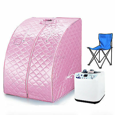 Portable Home Steam Sauna Spa With Chair Weight Loss Slimming Bath Indoor Beauty