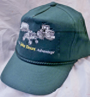'The JOHN DEERE ADVANTAGE Cap; New-Old Stock; No Tags; in JD Green, of Course