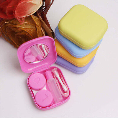 Fashion Contact Lens Case Travel Kit Mirror Pocket Storage Holder Container