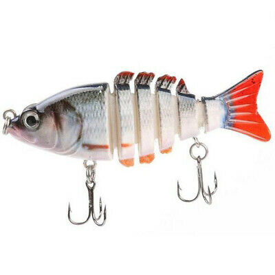 Multi Jointed 6 or 7 Sections Fishing Hard Bait Lure Swimbait Life-like 3D Eyes