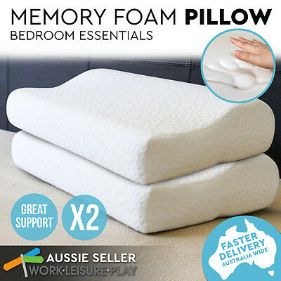 X2 Eco Friendly Memory Foam Contour Deluxe Pillow 2nd Gen Cover Thick Medium