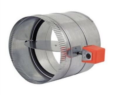 "Zonefirst 10"" Automatic Round Damper W/ MSS Spring Return Motor RDS10 NEW"