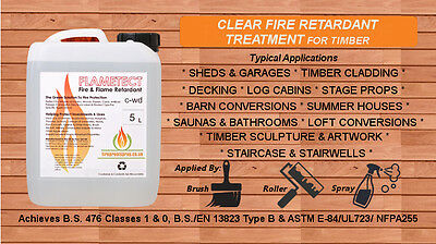 Flametect C-WD Flame Retardant For Timber - Clear