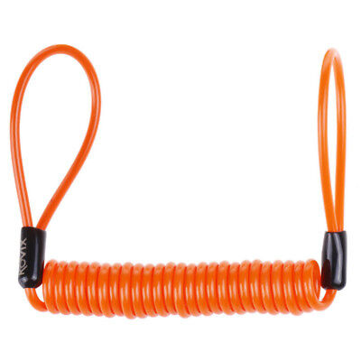 Kovix NEW Mx Motorcycle Disc Lock Orange Warning Reminder Cable