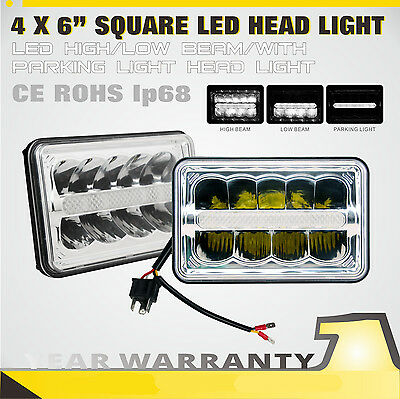SLDX 4 x 6 Inch Led Headlight Bulbs Sealed Beam High/Low Beam With Parking Light